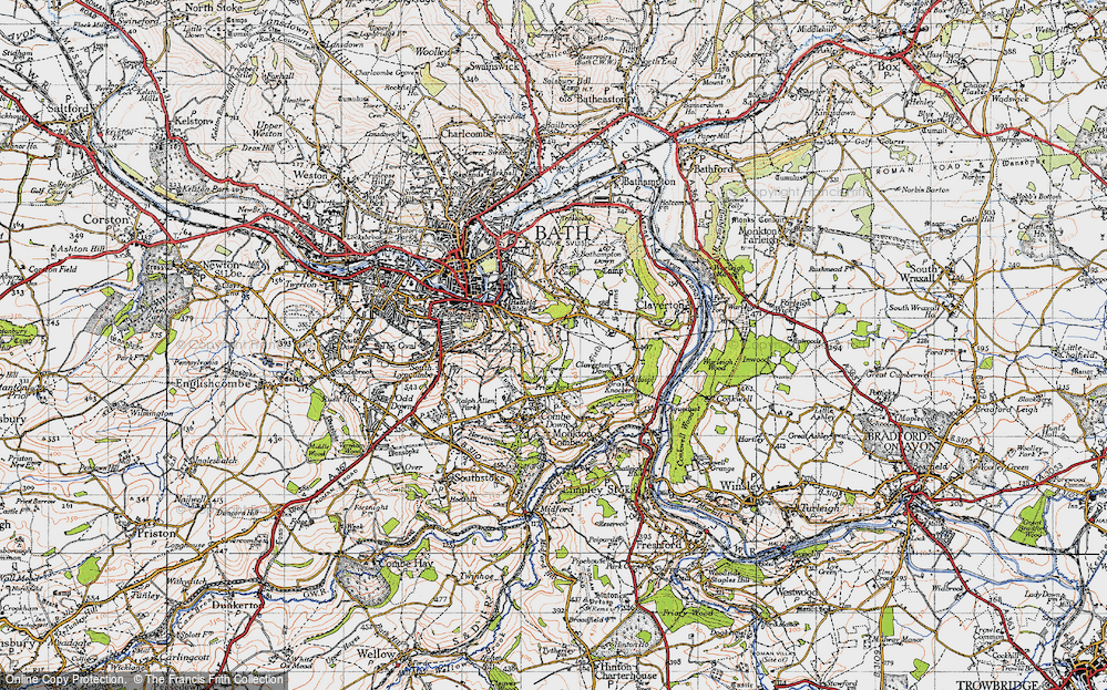 Old Map of Widcombe, 1946 in 1946