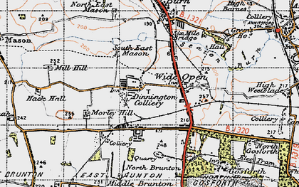 Old map of Wideopen in 1947