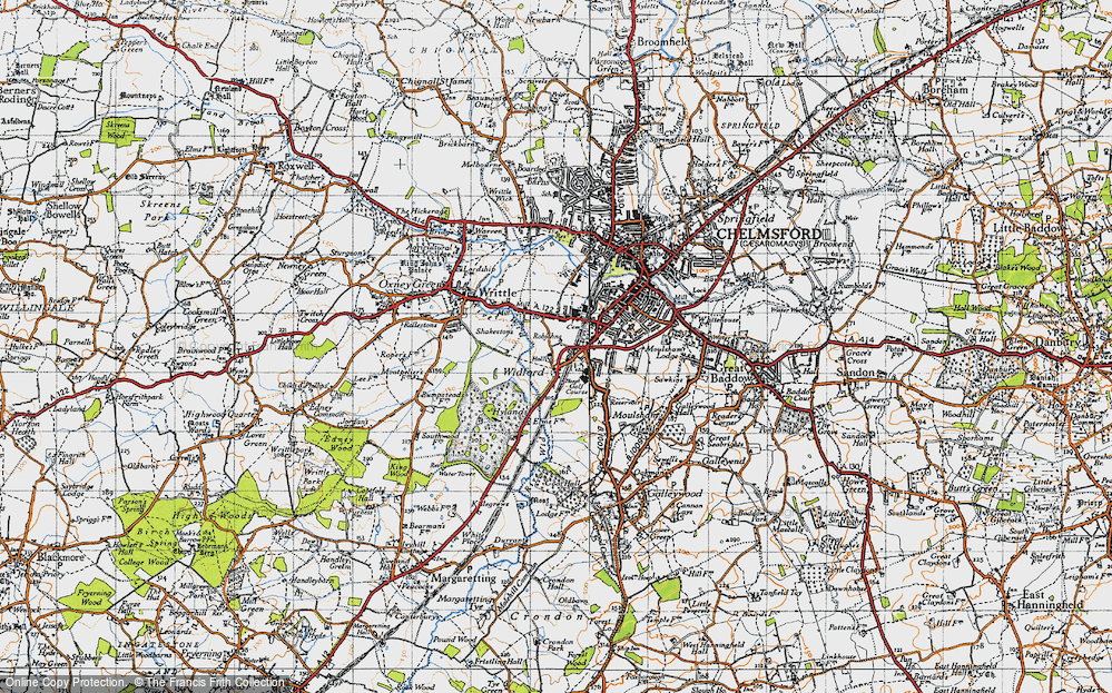 Old Map of Widford, 1945 in 1945
