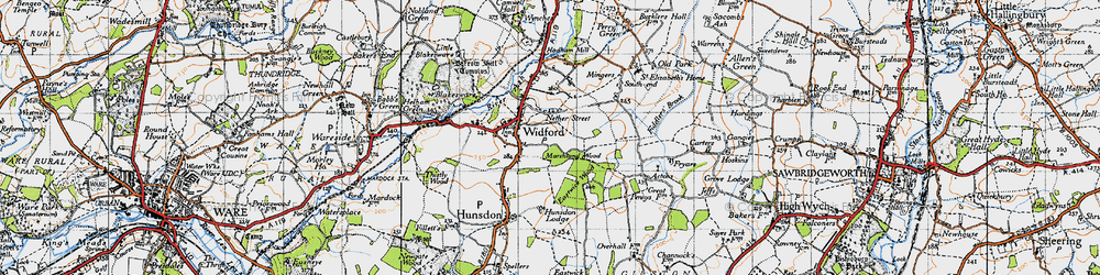 Old map of Widford in 1946