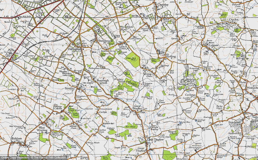 Old Map of Widgham Green, 1946 in 1946