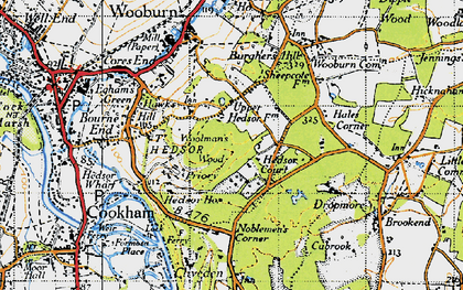 Old map of Widmoor in 1945