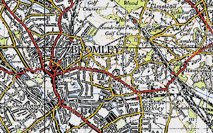 Old map of Widmore in 1946