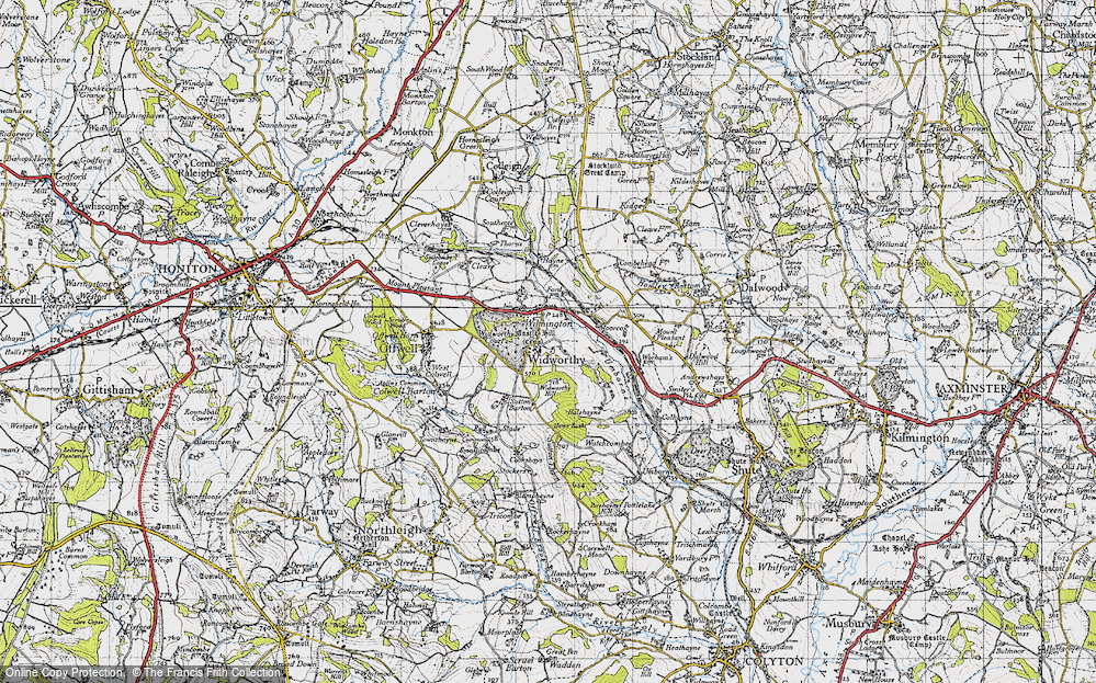 Old Map of Widworthy, 1946 in 1946