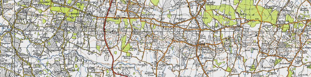 Old map of Wierton in 1940