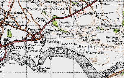 Old map of Wig Fach in 1947