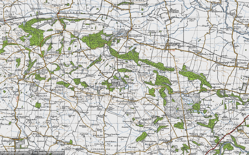 Old Map of Historic Map covering Airyholme in 1947