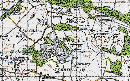Old map of Airyholme in 1947