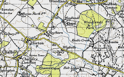 Old map of Wigbeth in 1940