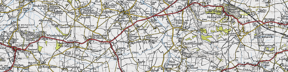 Old map of Wigborough in 1945