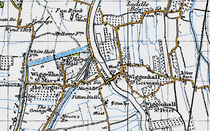 Old map of Wiggenhall St Germans in 1946