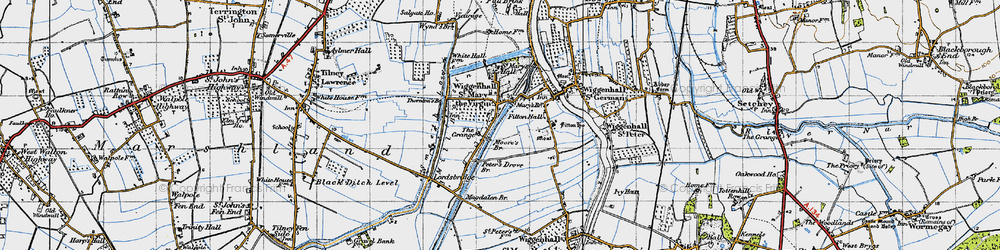 Old map of Wiggenhall St Mary the Virgin in 1946