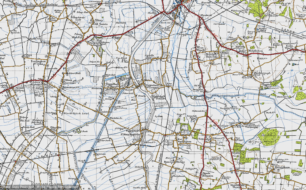 Old Map of Wiggenhall St Peter, 1946 in 1946