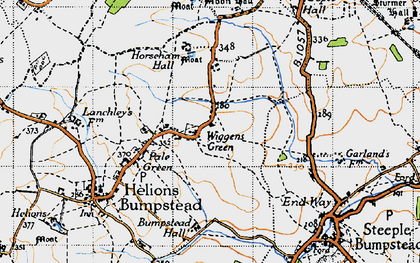 Old map of Wiggens Green in 1946
