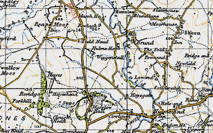 Old map of Wigginstall in 1947