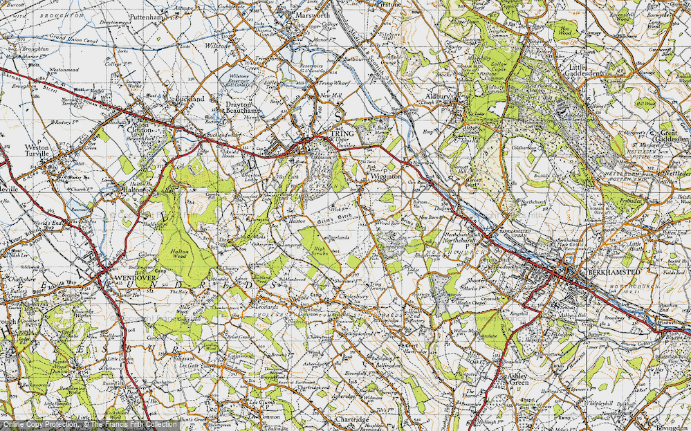 Old Map of Wigginton Bottom, 1946 in 1946