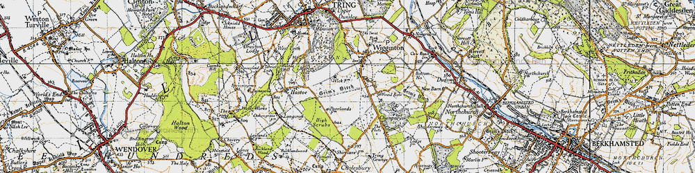 Old map of Wigginton Bottom in 1946