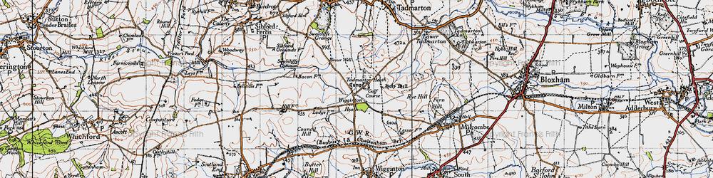 Old map of Wigginton Heath in 1946