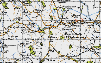Old map of Wigglesworth in 1947