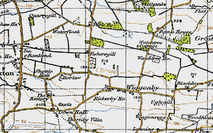 Old map of Wiggonby in 1947