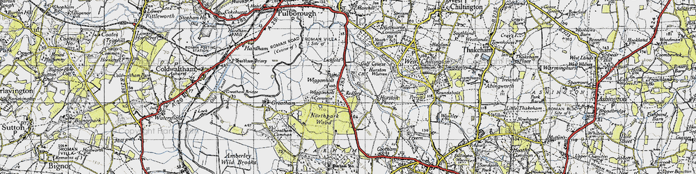 Old map of Wiggonholt Common in 1940