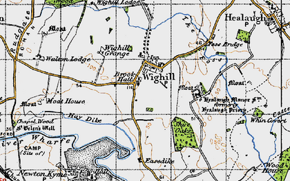Old map of Healaugh Manor Fm in 1947