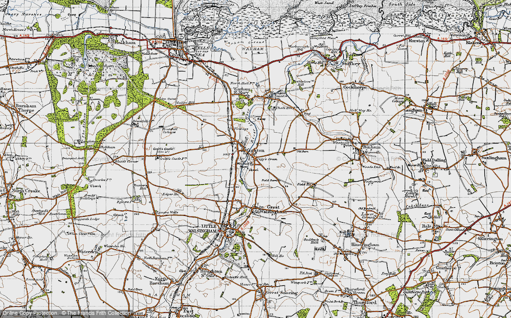Old Map of Wighton, 1946 in 1946