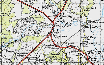 Old map of Wigley in 1945