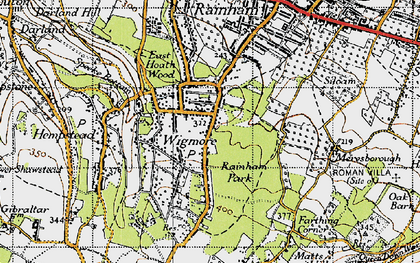 Old map of Wigmore in 1946