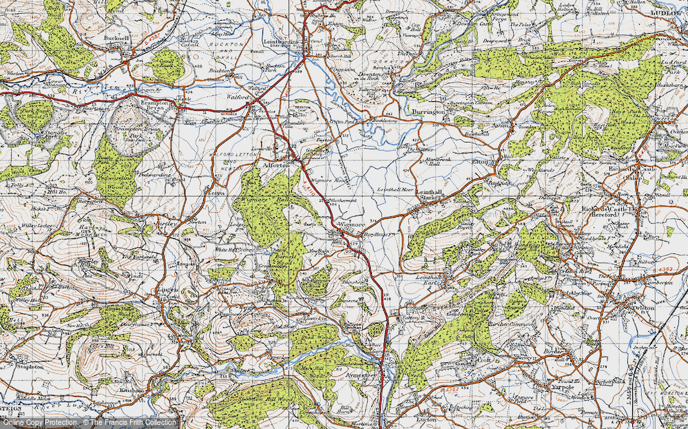 Old Map of Wigmore, 1947 in 1947