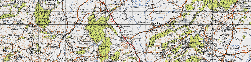 Old map of Wigmore Rolls in 1947