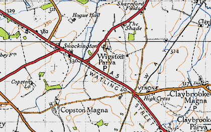 Old map of Leicestershire Round, The in 1946