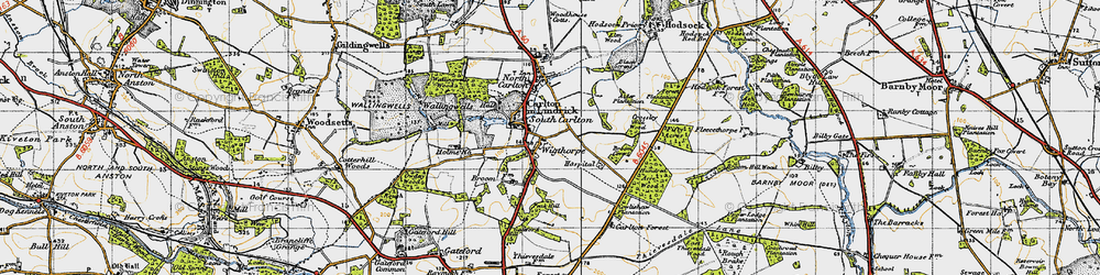 Old map of Wigthorpe in 1947