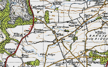 Old map of Wike Whin in 1947