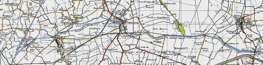 Old map of Wike Well End in 1947