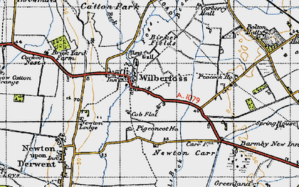 Old map of Wilberfoss in 1947