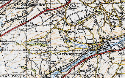Old map of Wilberlee in 1947