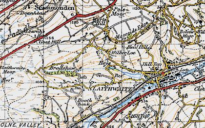 Old map of Wilberlee in 1947