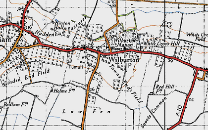 Old map of Wilburton in 1946
