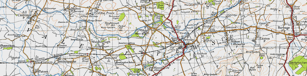 Old map of Wilcot in 1940