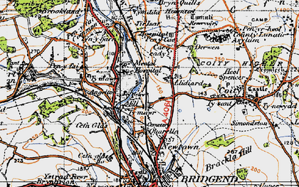 Old map of Wild Mill in 1947