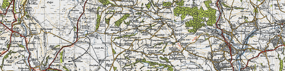 Old map of Wilday Green in 1947