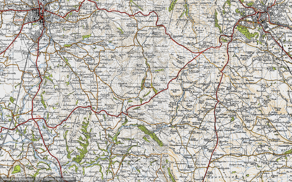 Old Map of Wildboarclough, 1947 in 1947