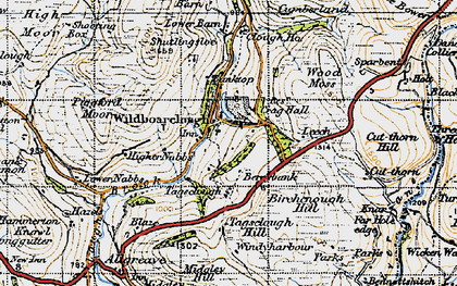 Old map of Oakenclough in 1947