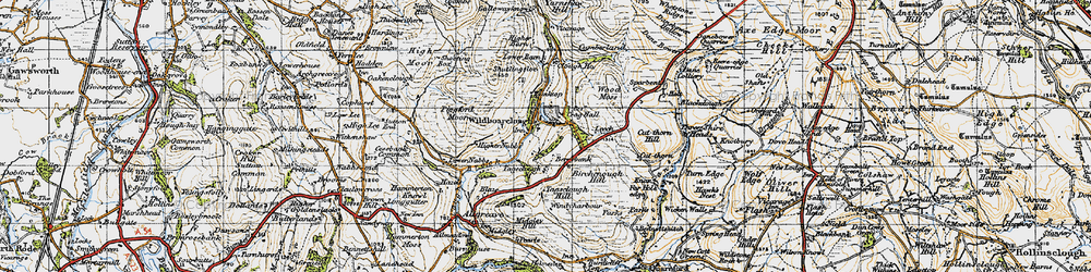 Old map of Wildboarclough in 1947