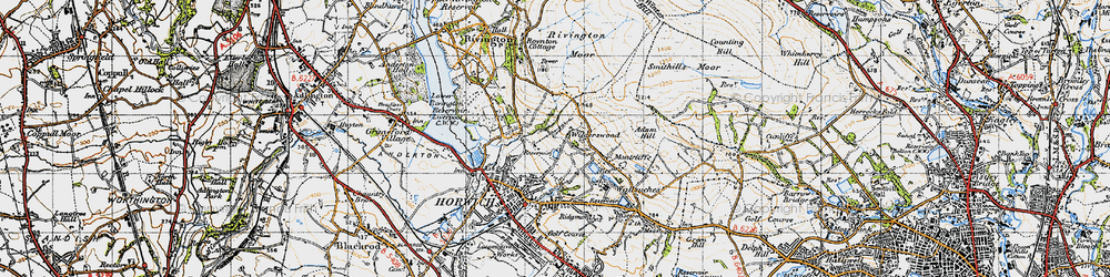 Old map of Wilderswood in 1947