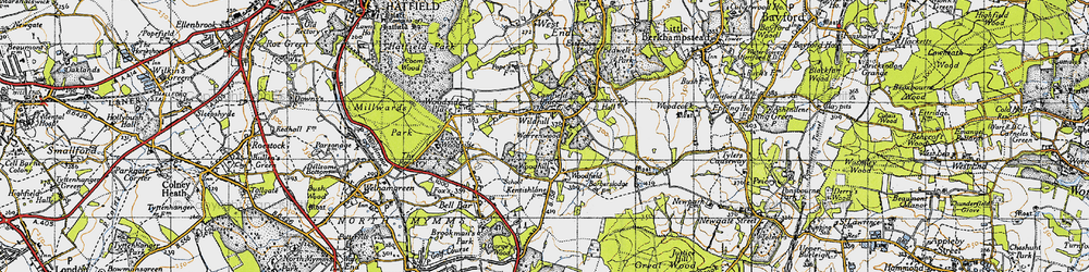 Old map of Wildhill in 1946