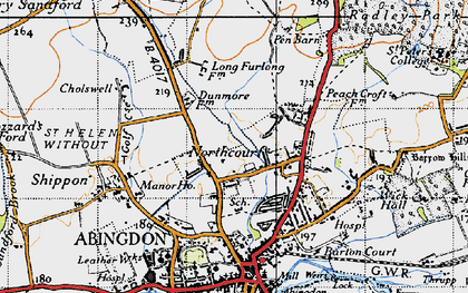 Old map of Wildmoor in 1947