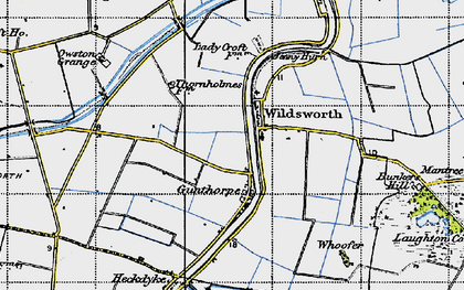 Old map of Wildsworth in 1947