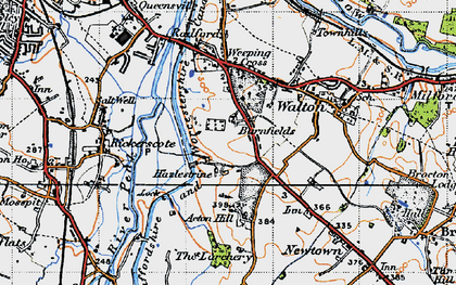 Old map of Larchery, The in 1946